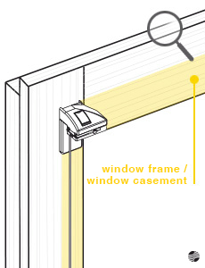 Assembly on the window frame with mounting bracket
